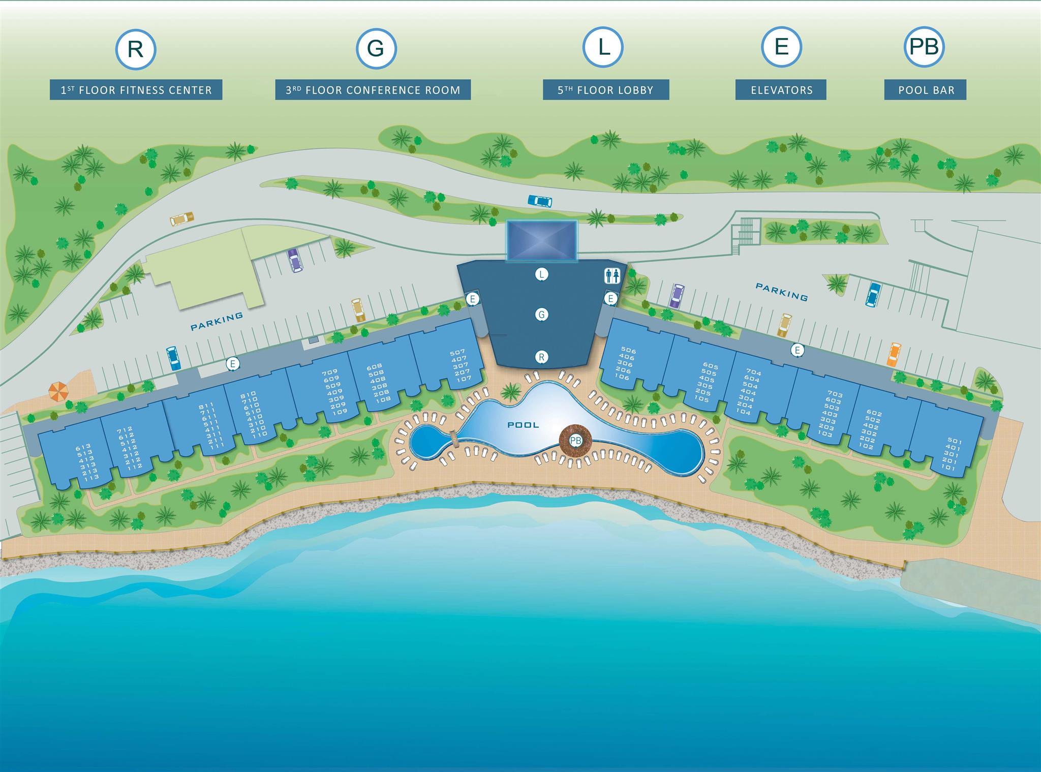 Plan du site de Simpson Bay Resort & Marina